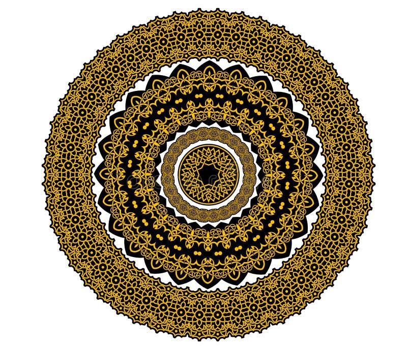 Ornement celtique de cercle dans le style médiéval illustration libre de droits