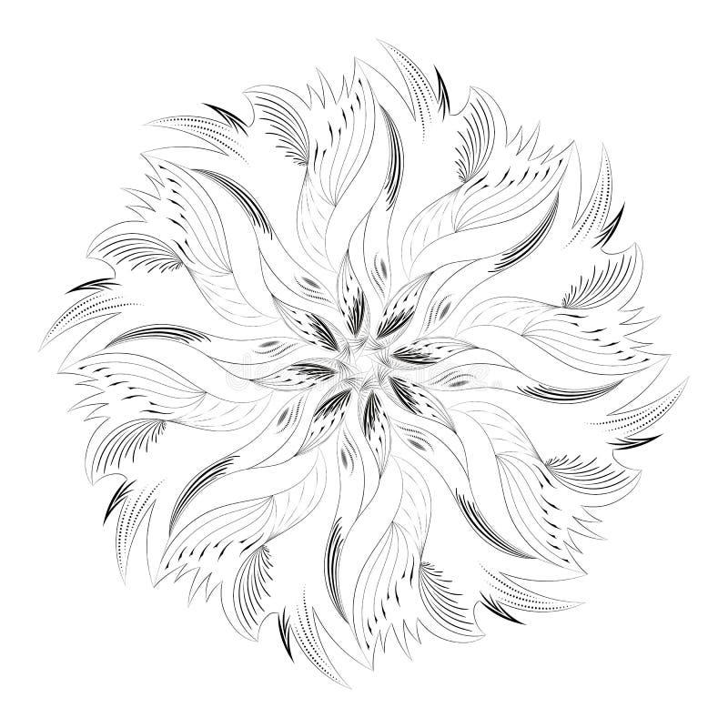 Download Ornement Circulaire Abstrait Noir Et Blanc Illustration de Vecteur - Illustration du décor, symbole: 77154693