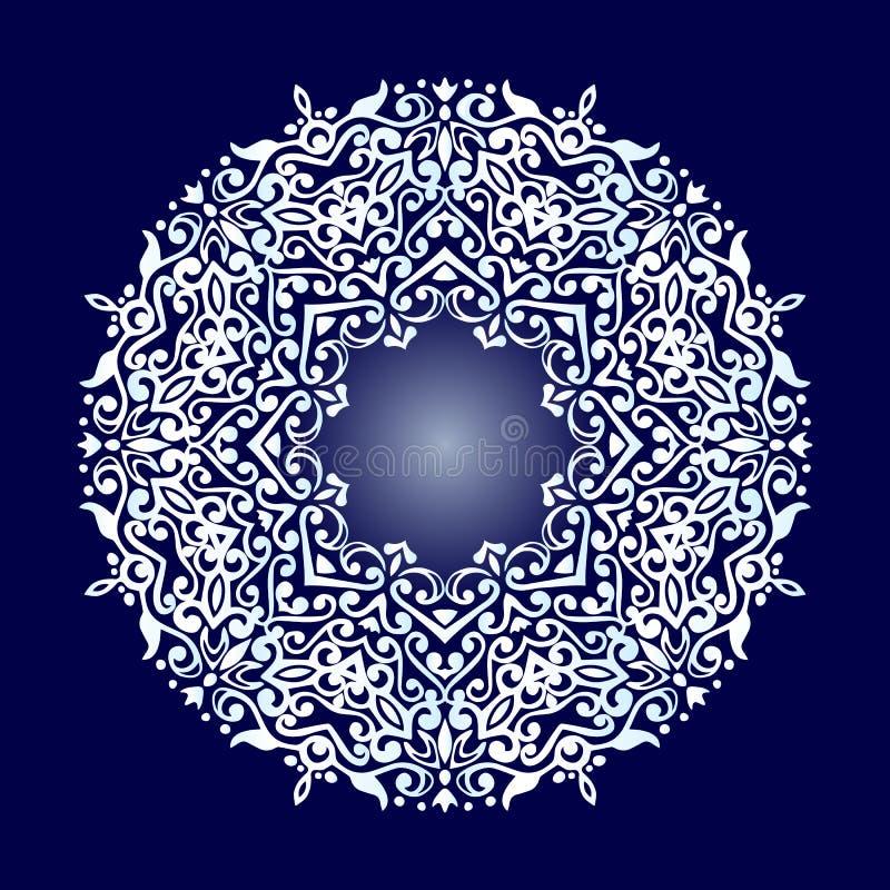 Ornement décoratif, blanc de mandala image stock
