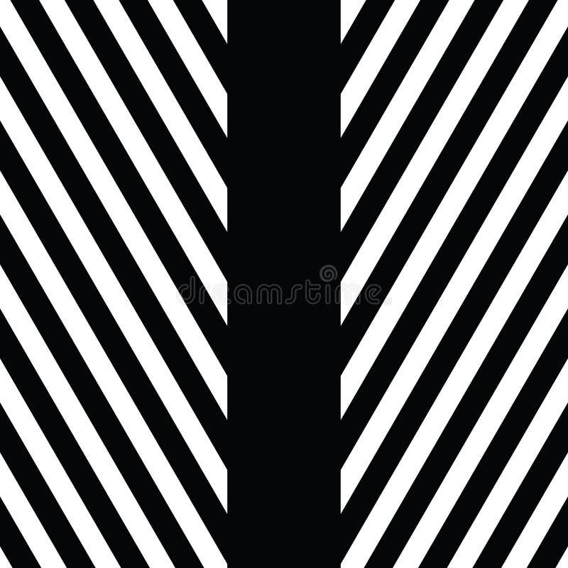 Ornement décoratif, calibre figuratif de conception avec les triangles blanches noires rayées Fond, texture avec optique illustration de vecteur