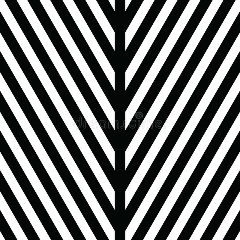 Ornement décoratif, calibre figuratif de conception avec les triangles blanches noires rayées Fond, texture avec optique illustration stock