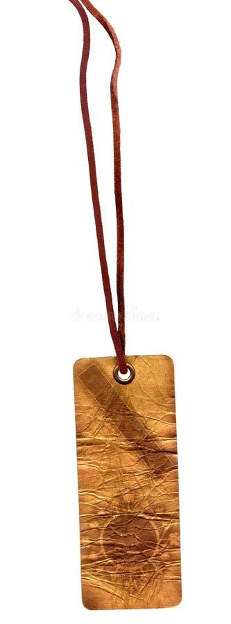 ornement d'étiquette d'or de glam de carton vieil photos libres de droits