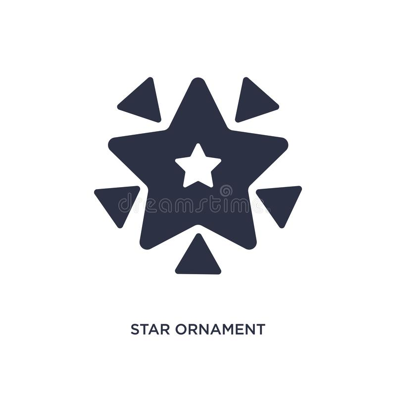 ornement d'étoile d'icône de triangles sur le fond blanc Illustration simple d'élément de concept de la géométrie illustration stock