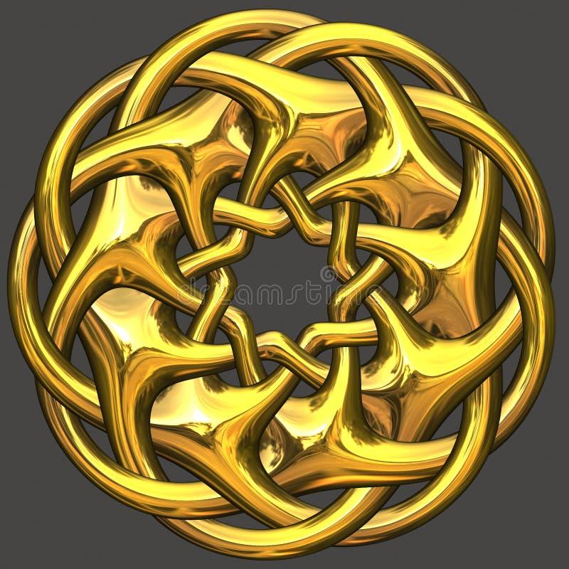 Ornement d'or illustration de vecteur