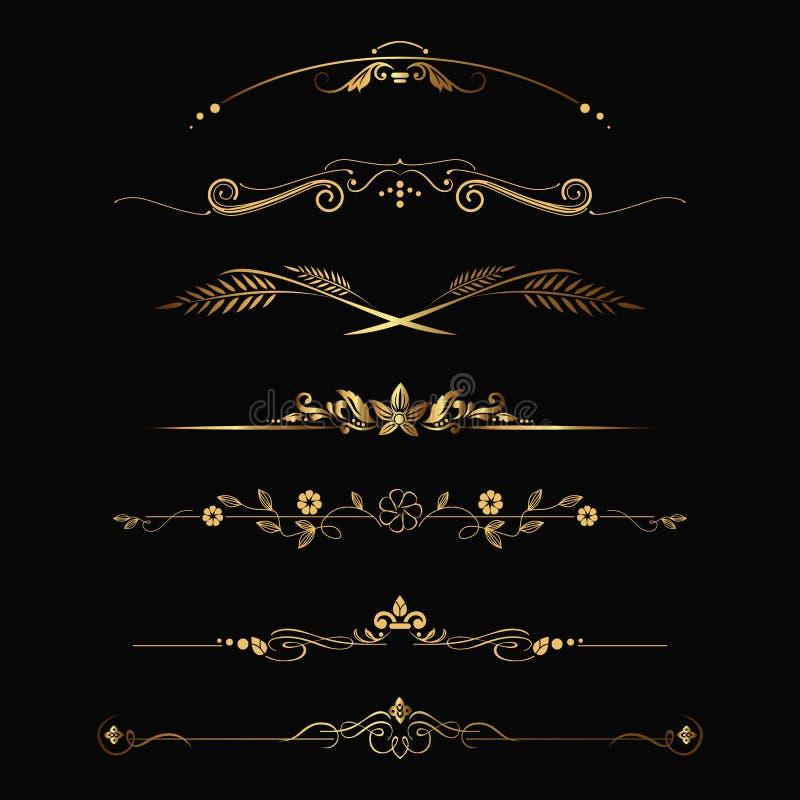 Ornement d'or illustration libre de droits