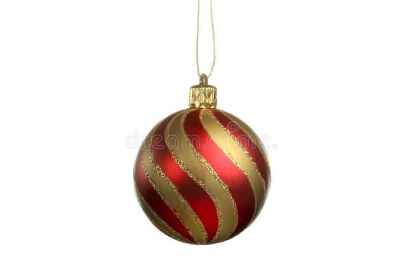 Ornement d'arbre de Noël, boule, décorations Fond blanc d'isolement image stock