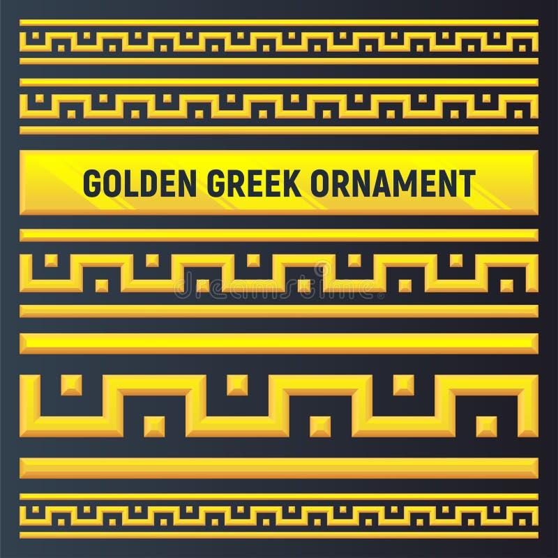 Ornement d'or du grec ancien image libre de droits