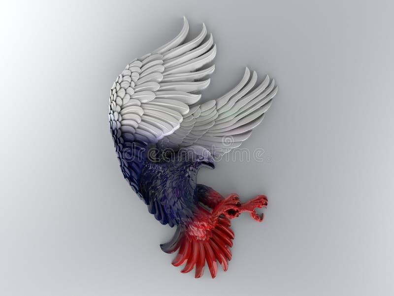 Ornement d'Eagle sur un fond gris illustration stock