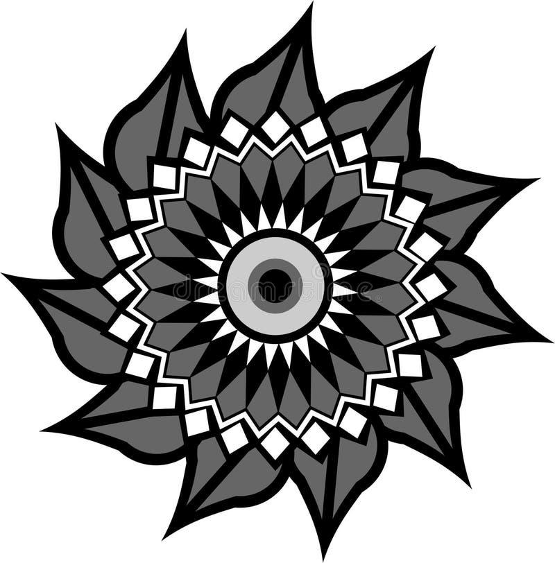 Ornement de cercle avec le divers modèle illustration stock