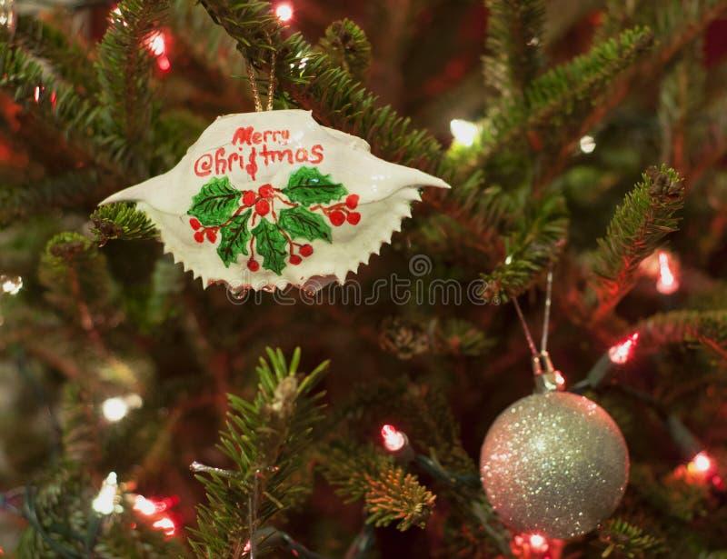 Ornement de crabe du Maryland de Joyeux Noël photographie stock