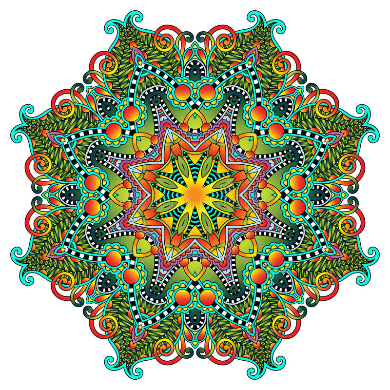 Download Ornement De Dentelle De Cercle, Géométrique Ornemental Rond Illustration de Vecteur - Illustration du dessin, instruction: 45354561