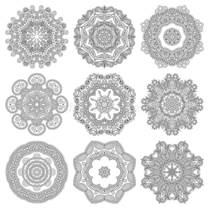 Download Ornement De Dentelle De Cercle, Géométrique Ornemental Rond Illustration de Vecteur - Illustration du lacet, cercle: 45354571