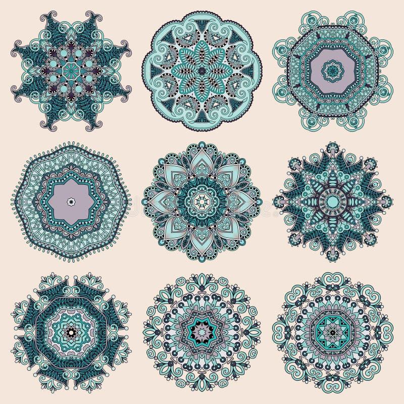 Download Ornement De Dentelle De Cercle, Géométrique Ornemental Rond Illustration de Vecteur - Illustration du broderie, tissu: 45367654