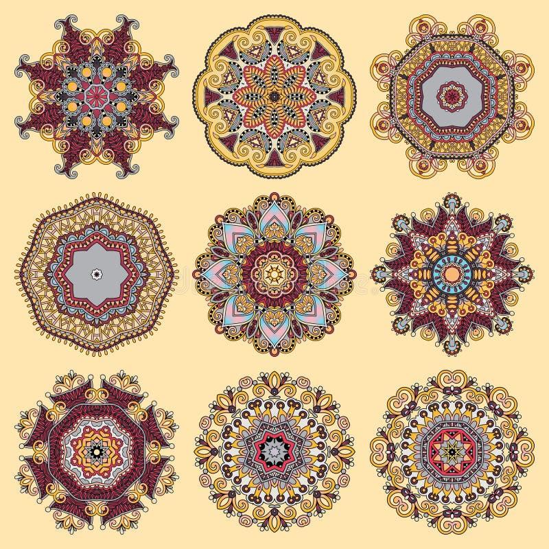 Download Ornement De Dentelle De Cercle, Géométrique Ornemental Rond Illustration de Vecteur - Illustration du arabesque, configuration: 45367697