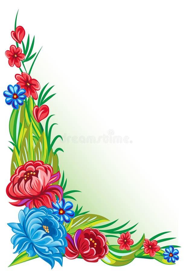 Ornement de fleur illustration stock