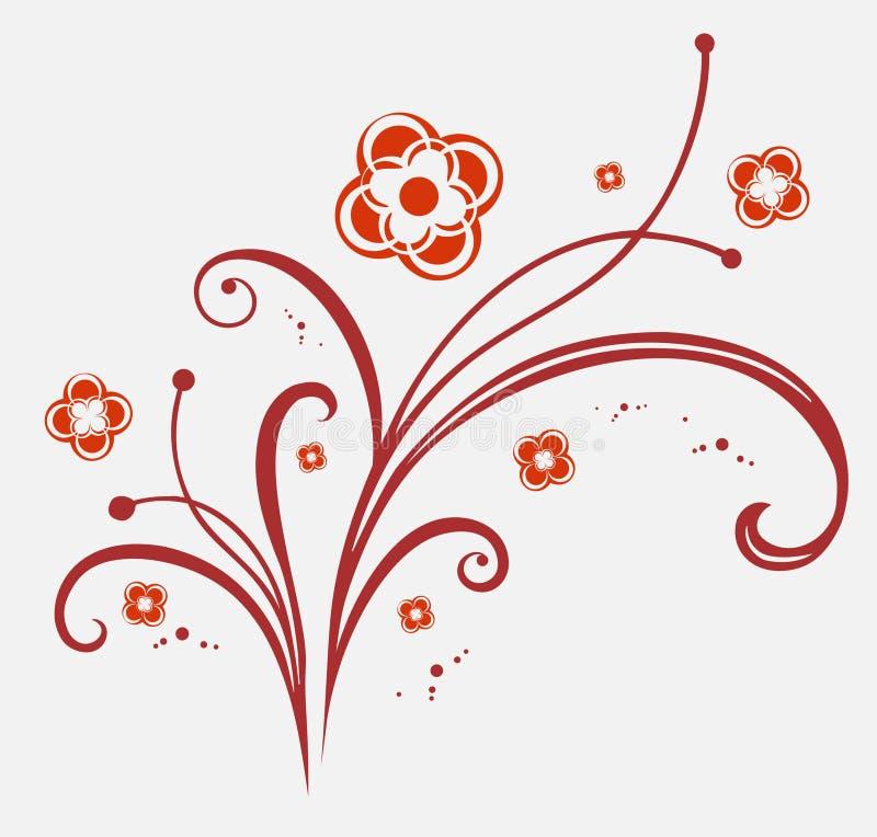 Ornement de fleurs illustration de vecteur
