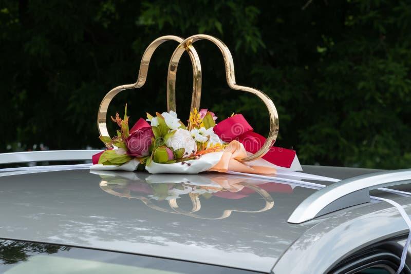 Ornement de la voiture de mariage image stock