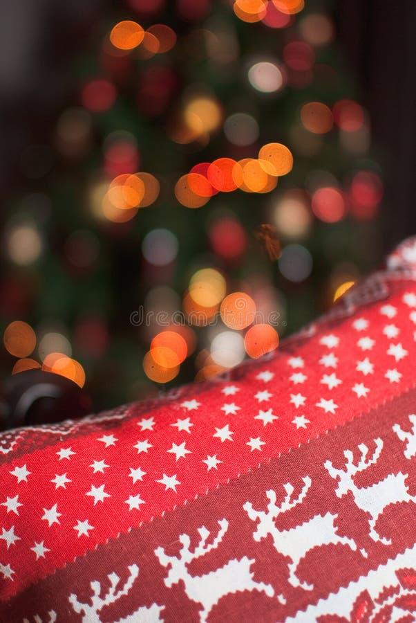 Ornement de Noël avec des cerfs communs images libres de droits