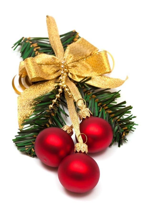 Ornement de Noël avec la bille photo stock