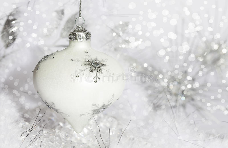 Ornement de Noël blanc photos libres de droits