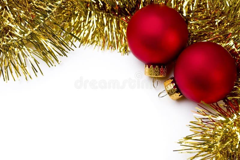 Ornement de Noël et guirlande d'or images stock