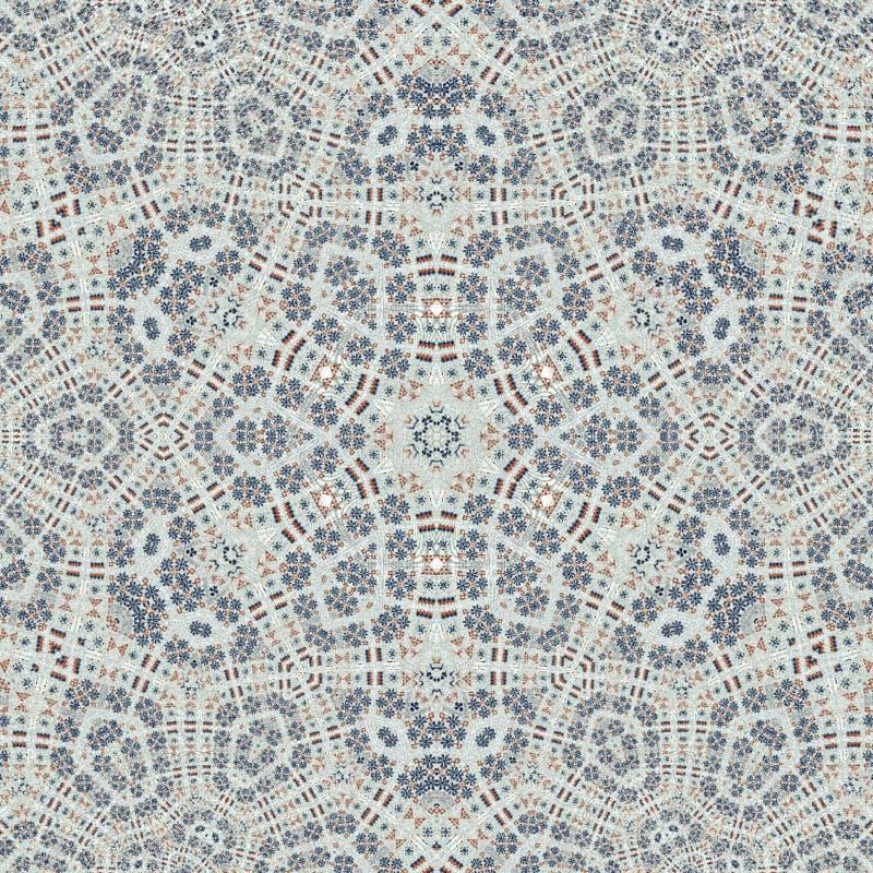 Ornement de patchwork Style de broderie Ornement traditionnel coloré Couverture orientale monochrome illustration stock