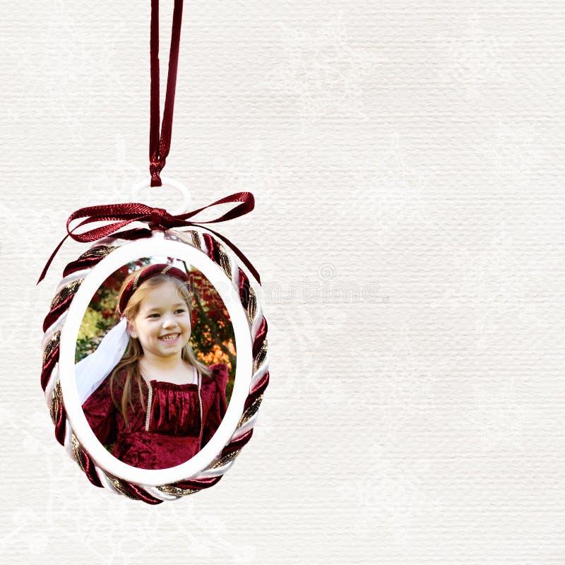 Ornement de photo de Noël photos stock
