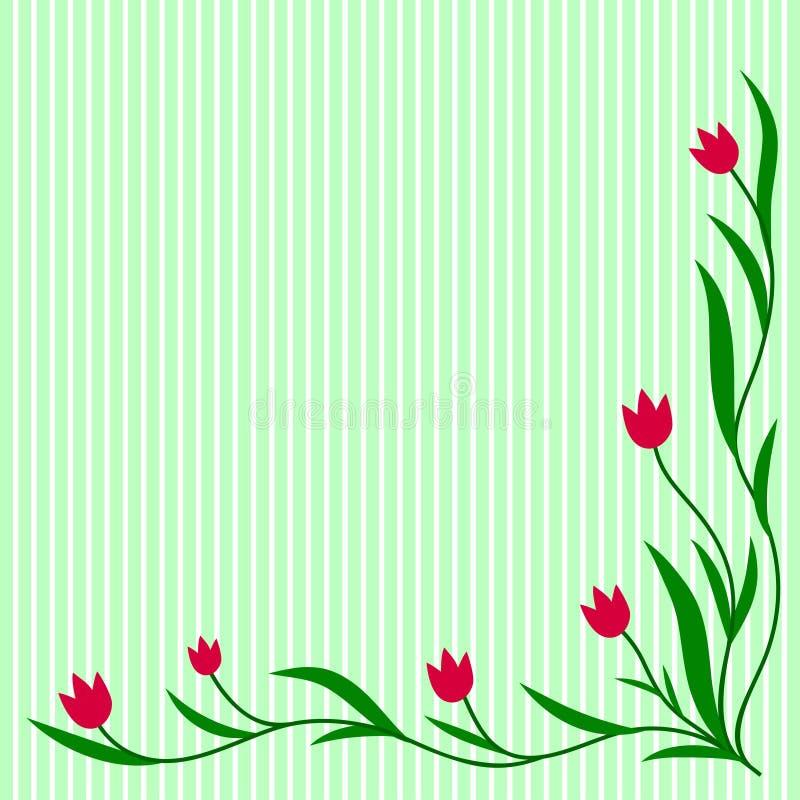 Ornement de tulipes illustration stock
