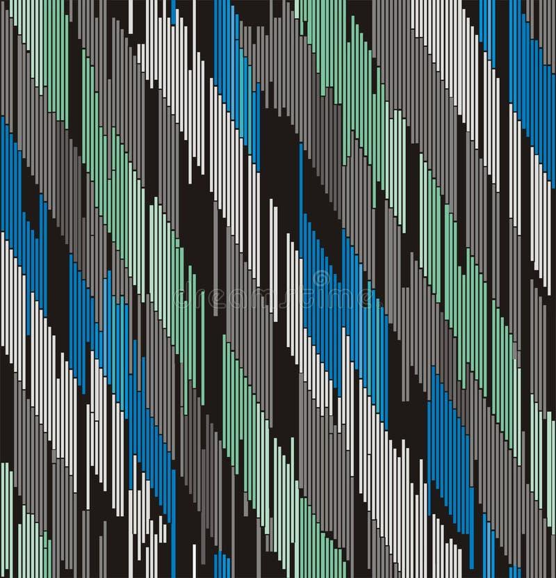Ornement diagonal abstrait des courses illustration stock