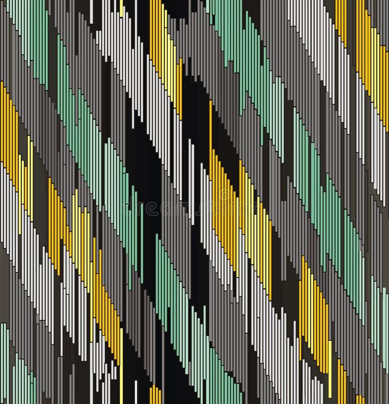 Ornement diagonal abstrait des courses illustration libre de droits