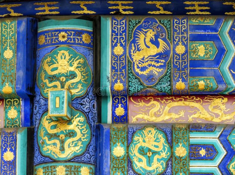Ornement du temple du Ciel en détail, Pékin, Chine, Asie image stock
