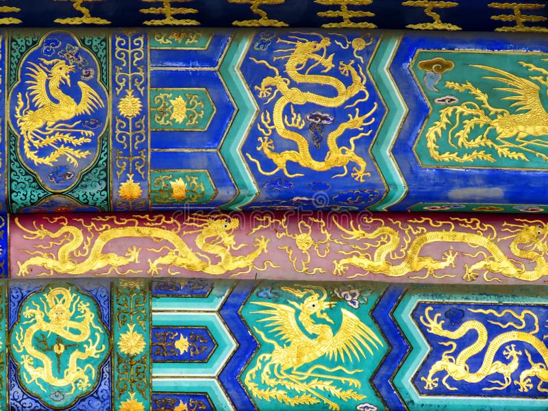 Ornement du temple du Ciel en détail, Pékin, Chine, Asie photographie stock libre de droits