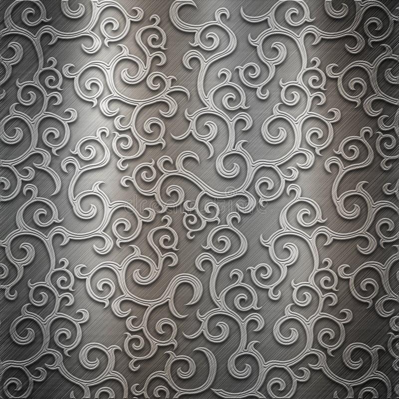 Ornement en métal illustration de vecteur