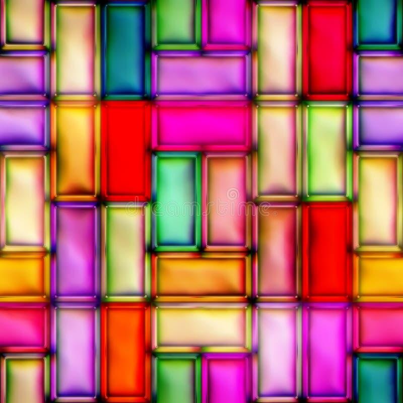 Ornement en verre souillé de résumé Configuration sans joint illustration stock
