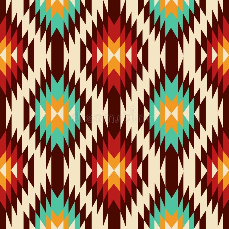 Ornement ethnique Modèle de Navajo illustration stock