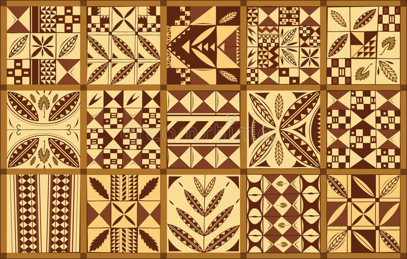 Ornement ethnique polynésien de style illustration stock