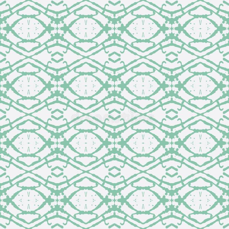 Ornement ethnique tiré par la main de vert vert illustration de vecteur