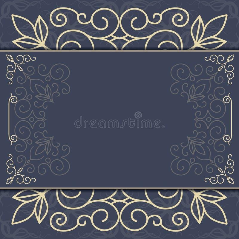 Ornement fleuri élégant de fond pour des invitations, carte de voeux, menu illustration de vecteur