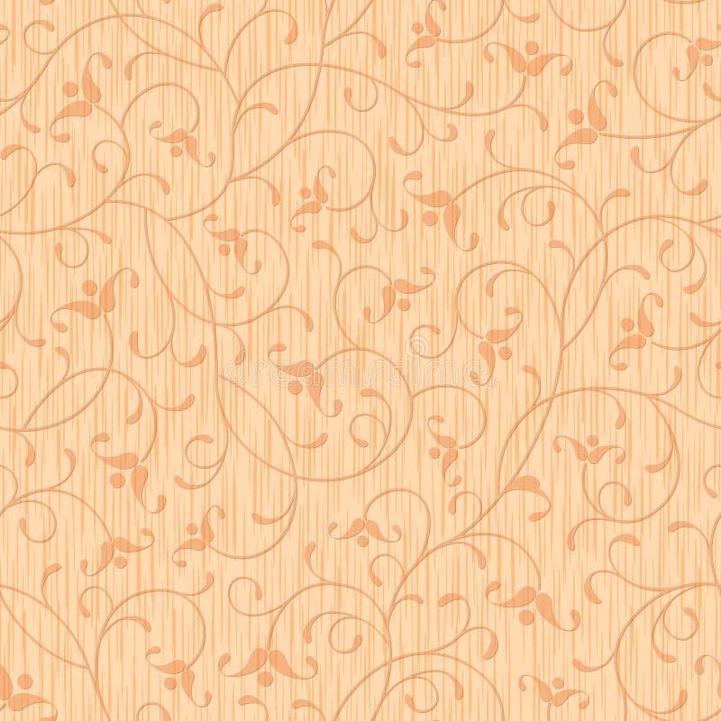 Ornement floral découpé par bois abstrait sans joint illustration libre de droits