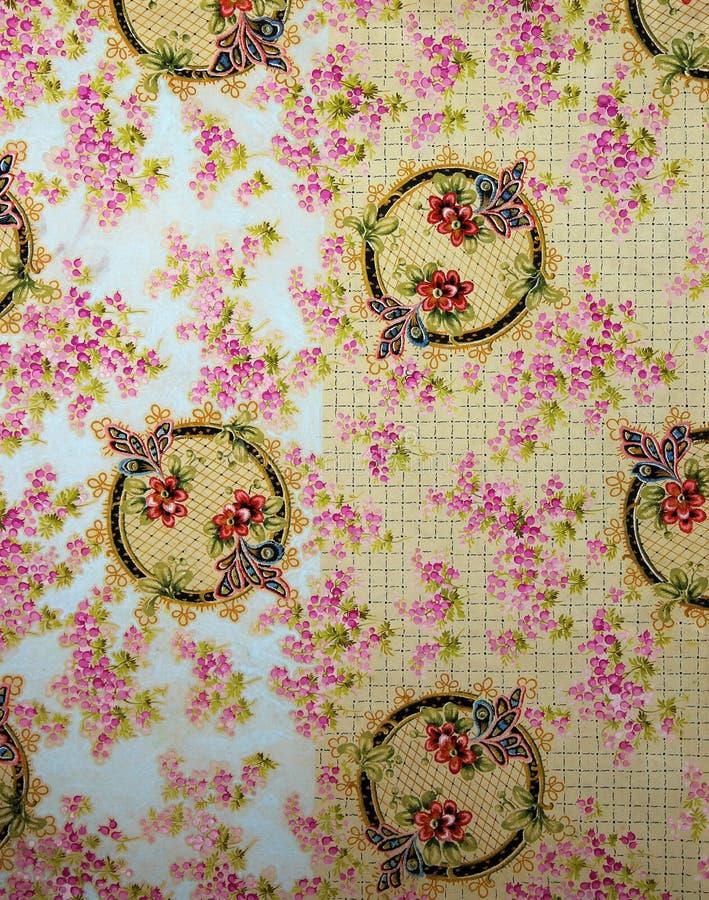 Ornement floral de textile original de l'Art nouveau Gouache peinte à la main de vintage de CROC illustration de vecteur