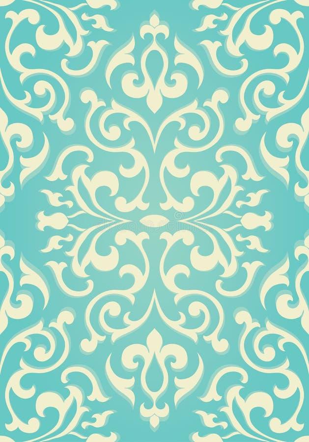 Ornement floral de turquoise illustration libre de droits