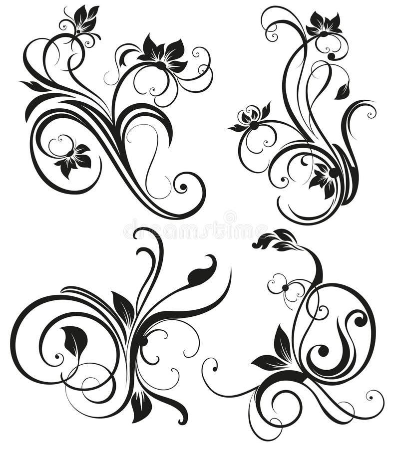Ornement floral de vintage de vecteur illustration de vecteur