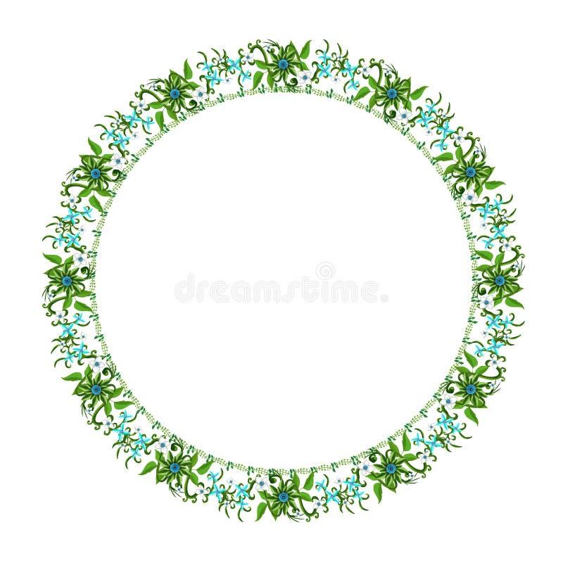 Ornement floral rond sur un fond blanc image stock