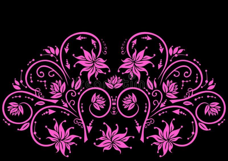 Ornement floral rose abstrait illustration de vecteur
