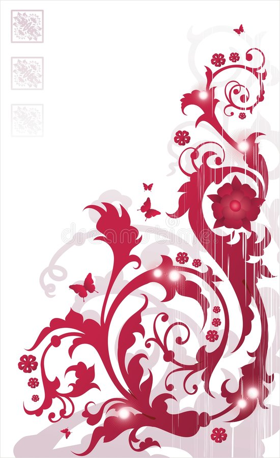 Download Ornement floral rouge illustration de vecteur. Illustration du cadre - 2136140