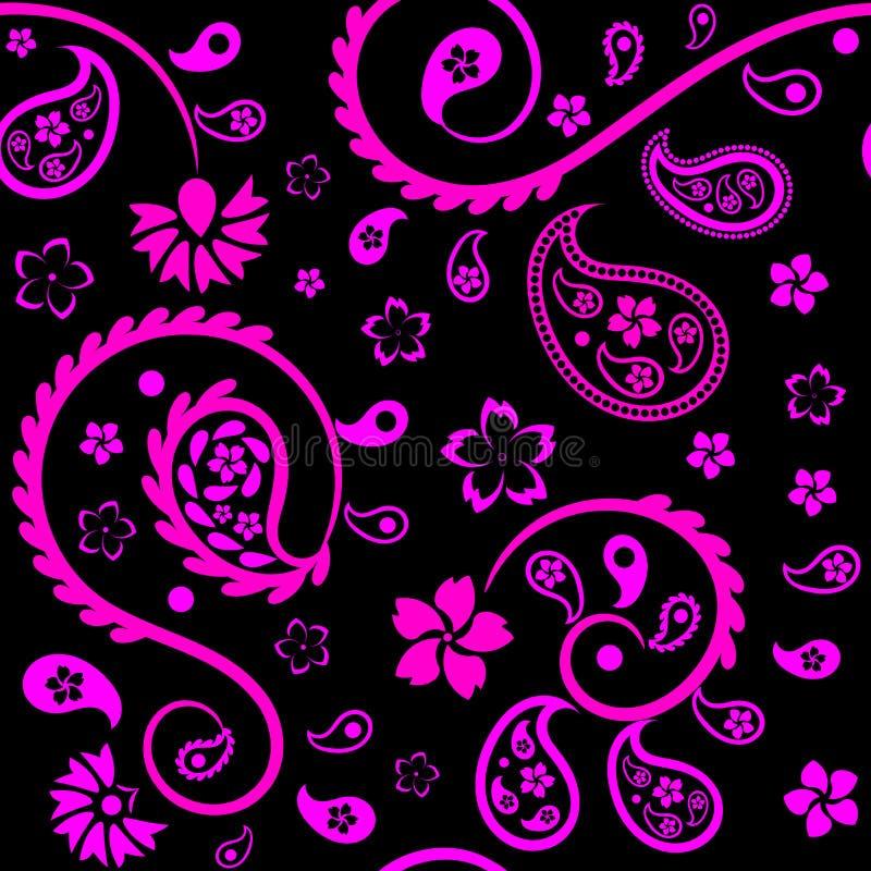 Ornement floral sans couture avec les concombres (indiens) turcs illustration libre de droits
