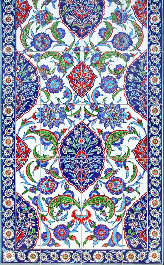 Ornement floral sur des tuiles photo stock
