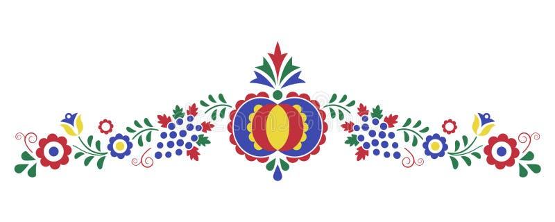 Ornement folklorique traditionnel, l'ornement de Moravian illustration stock