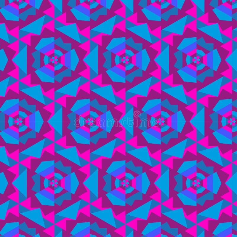 Ornement géométrique abstrait de kaléidoscope illustration libre de droits