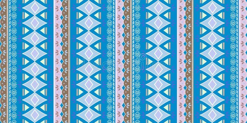 ornement géométrique de folklore de KAT Texture ethnique tribale de vecteur Modèle rayé sans couture dans le style aztèque Figure illustration de vecteur